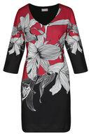 Robe imprimé grosses fleurs, Rouge