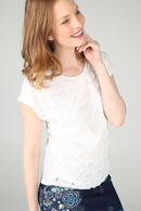 T-shirt en dentelle, Ecru