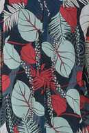 blouse en voile imprimé, Framboise