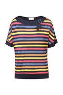 Gestreept shirt met lurex, Multicolor