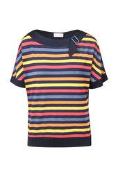 Gestreept shirt met lurex
