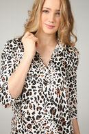 Tuniek met luipaardprint, Caramel