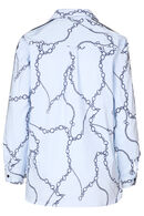 Blouse met kettingprint, Marineblauw