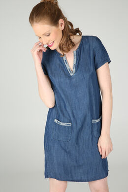Jurk in tencel met lovertjes, Denim