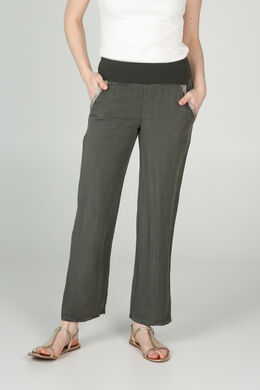 Pantalon fluide inspiration jeans, Kaki