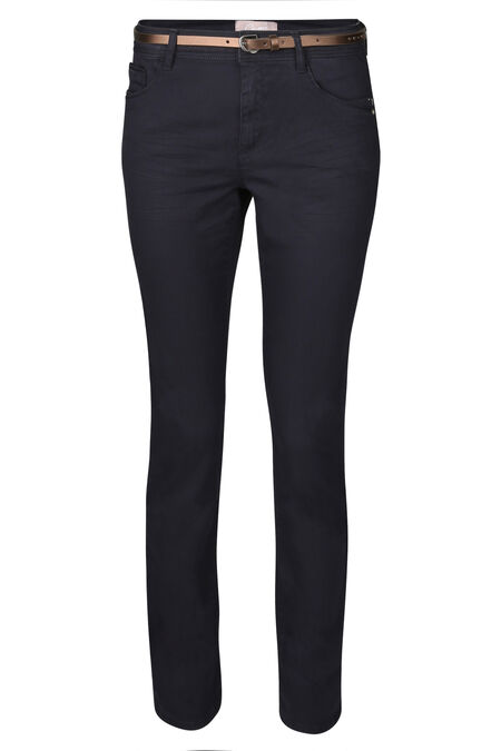 Smalle broek in katoen - Marineblauw