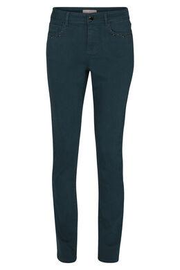 Katoenen broek met kraaltjes op de zakken, Emerald groen