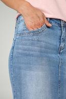 Jupe en jeans avec strass, Denim
