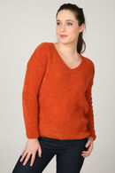 Pull maille bouclette, Orange
