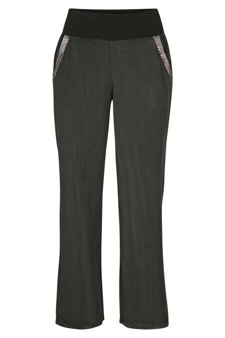 Pantalon fluide inspiration jeans - Kaki