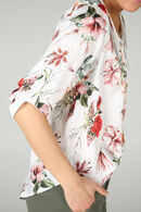 Tunique imprimée de fleurs, Ecru