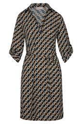 Halflange jurk met geometrische print