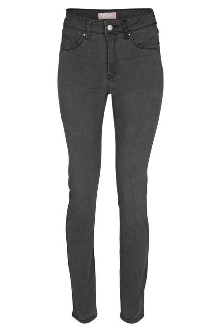 Jeans met hoge taille - Grijs