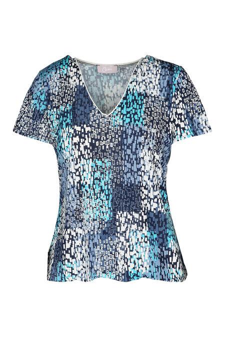 Bedrukt T-shirt - Turquoise