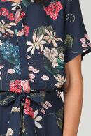 Hemdjurk met bloemenprint, Marineblauw