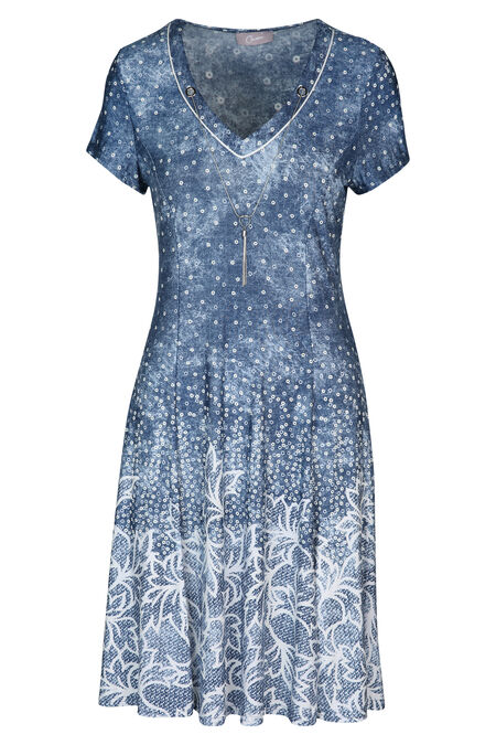 Robe dessins en gomme - Denim