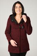 Wollen duffle coat, Rood