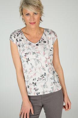 T-shirt imprimé, Ecru