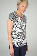 T-shirt imprimé feuilles, Ecru