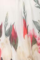 Blouse imprimé roseaux et fleurs, multicolor