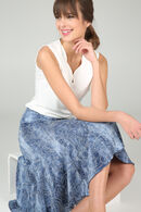 Halflange rok met denimlook, Denim