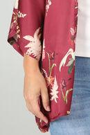 Kimonojasje met bloemetjes, Wijnrood