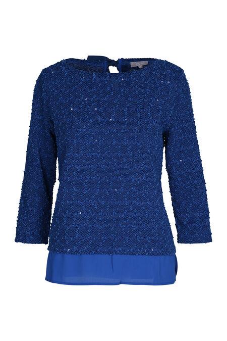 Sweater in bouclétricot - Koningsblauw