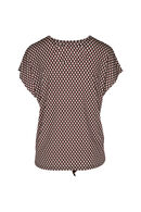 T-shirt imprimé géométrique liens à nouer, Framboise
