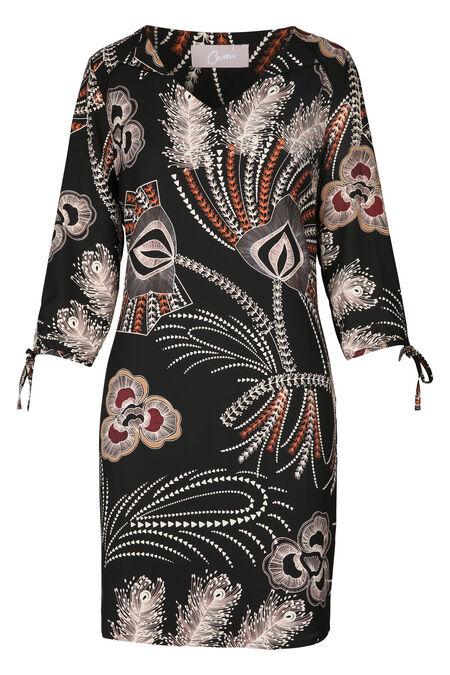 Robe imprimé baroque - Noir