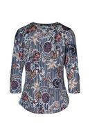 Bedrukt T-shirt met gomeffect, Marineblauw