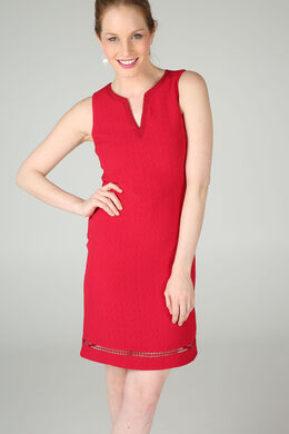 Robe unie encolure tunisienne, Rouge