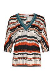 T-shirt in tricot met geometrische print