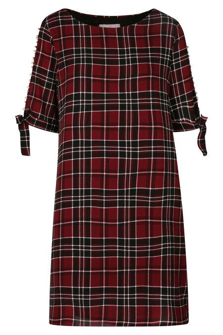 Geruite jurk - Rood