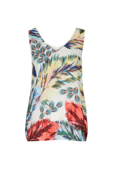 T-shirt imprimé jungle et strass - multicolor