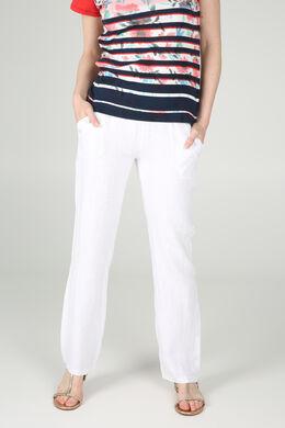 Pantalon en lin, Blanc