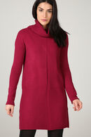 Robe pull col roulé, Rouge