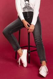 Slim broek met strepen van kraaltjes