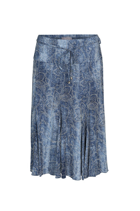 Halflange rok met denimlook - Denim