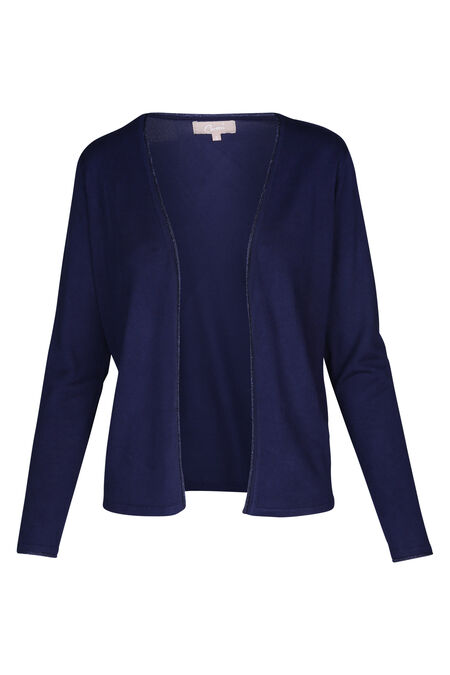 Cardigan avec finitions en lurex - Indigo