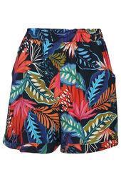 Soepele short met een tropische print