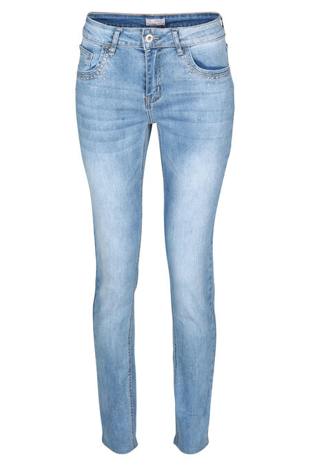 Jeans slim avec strass - Denim
