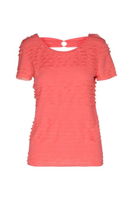 T-shirt met volants - Koraal