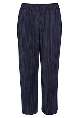 Brede broek met plooitjes, Marineblauw