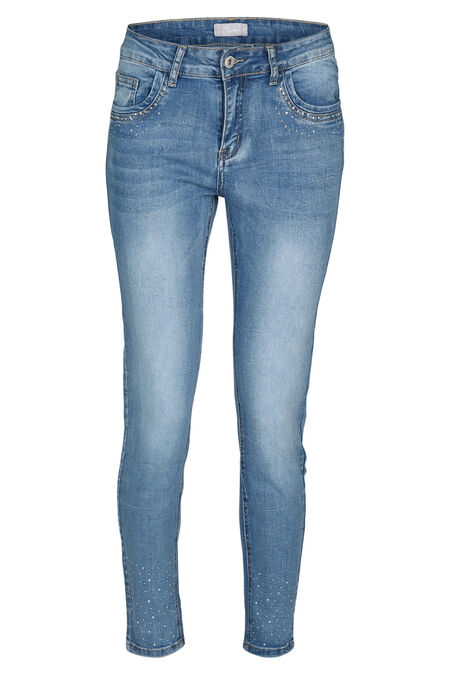 Pantalon slim avec strass - Denim