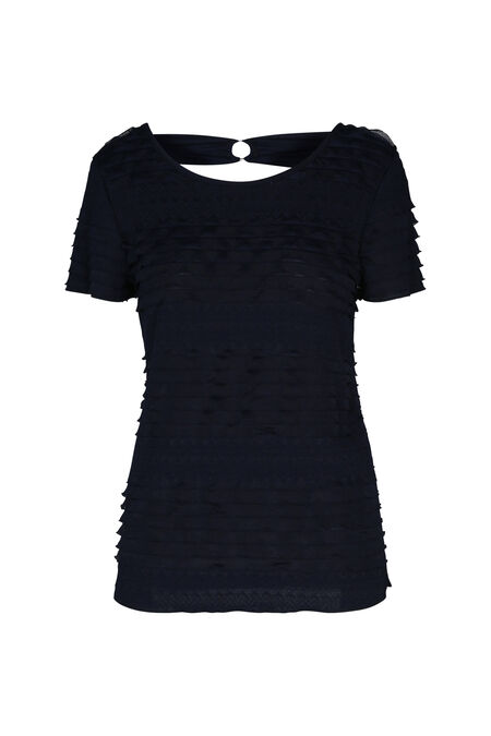 T-shirt à volants - Marine