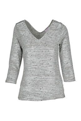T-shirt en maille brillante paillettes, Or
