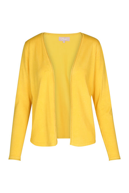 Cardigan avec finitions en lurex - Ocre