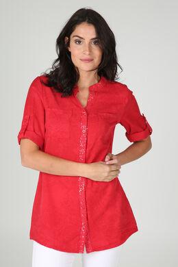 Tuniekhemd in lyocell met mandalaprint, Rood