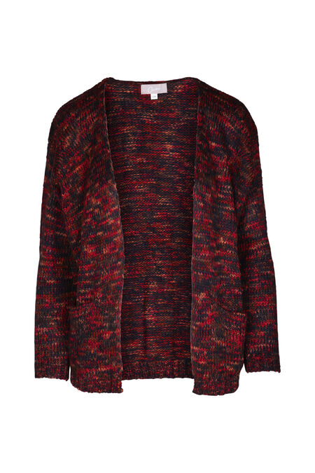 Cardigan loose grosse maille - Rouge