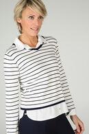Gestreepte trui 2-in-1, Marineblauw